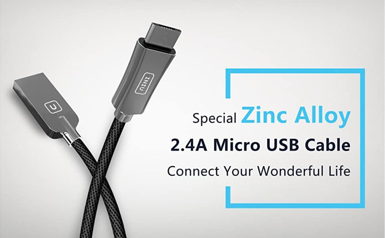 This image has an empty alt attribute; its file name is INIU-Micro-USB-Cable-Android-2.4A-Quick-Charging-Zinc-Alloy-Nylon-Braided-3.3ft-Tangle-Free-1-pack-usb_ys.jpg